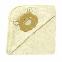 Полотенце-уголок. Детское полотенце с капюшоном Медвежонок, Wooly Organic