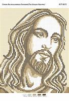 "Схема для вышивки бисером 23х19см  ""Лик Иисуса Христа"""