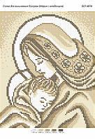 "Схема для вышивки бисером 23х19см  ""Мария с младенцем"""