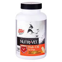 Рыбий жир Nutri-Vet Fish Oil для собак, улучшение состояния кожи и шерсти, 100 таб