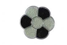 Бісер B7-4 чорний/білий колір