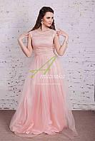 Выпускное платье для 11 классниц 2017 - Код пл-177 (пудра)