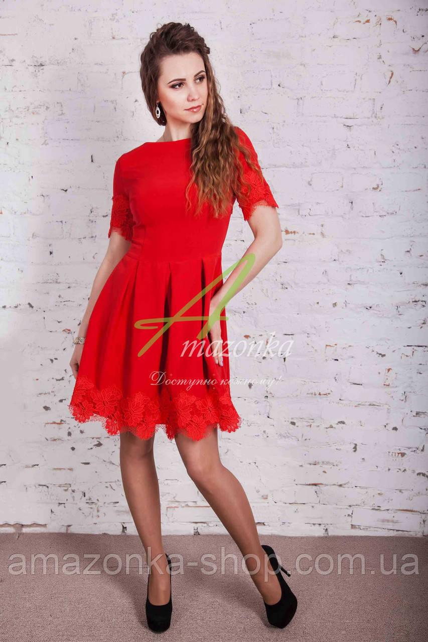 Женское платье на выпускной 2017 - Код пл-189 (красный)