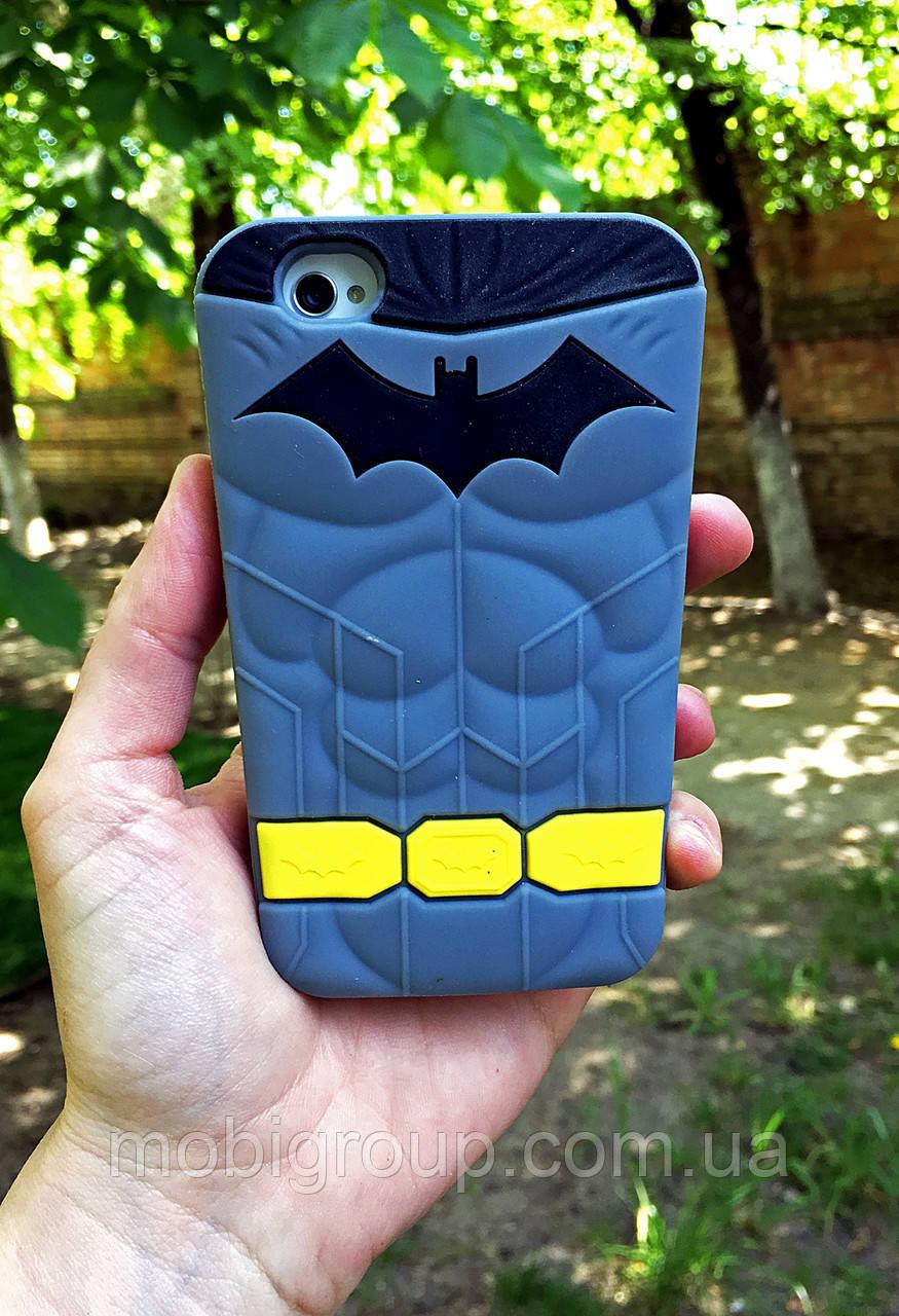 Силиконовый чехол BATMAN для iPhone 4/4s, Бэтман