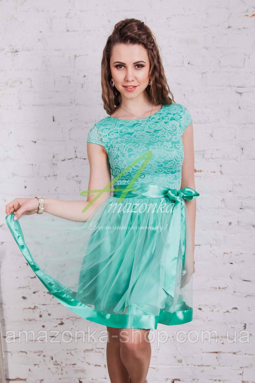Игривое выпускное платье для девушек 9-11 классов 2018 - Код пл-190