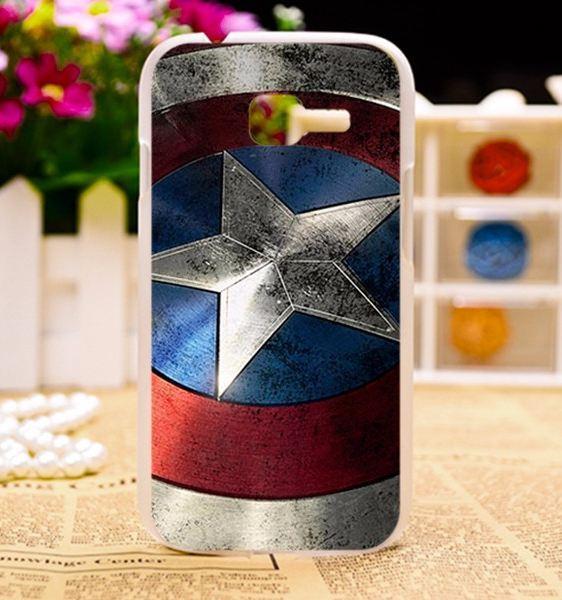 Бампер силиконовый чехол для Samsung Galaxy S7260 S7262 с картинкой Капитан Америка