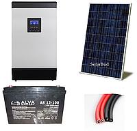 Автономна сонячна електростанція 1 кВт (від 120 до 156 кВт/місяць)
