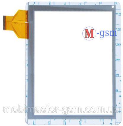 Тачскрин (сенсорный экран) (p/n: QSD E-C97001-01) белый, фото 2