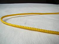 Шнур текстильный, диаметр 3 мм, жёлтый., фото 1