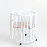 Кроватка овальная 7 в 1 (Цвет белый ) Аналог Stokke Sleepi (Премиум)