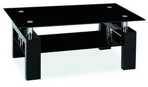 Журнальный стол LISA II белый лак, черный лак  110x60 (Signal), фото 2
