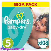 Подгузники Pampers Active Baby Junior 5 (11-18 кг) Gigant Pack 108 шт Англия.