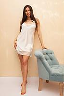 Женская ночная сорочка из шелка с кружевом