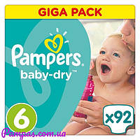 Подгузники Pampers Active Baby-Dry Maxi Plus 6 (15+ кг) Gigant Pack,92 шт Англия.