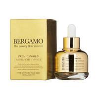 Антивозрастная сыворотка с микрочастицами золота Bergamo Premium Gold Wrinkle Care Ampoule