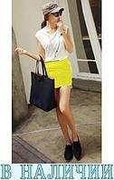 Яркая приталенная молодежная юбка стрейч Mini
