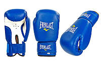 Перчатки боксерские PVC на липучке ЮНИОР MA-0033-B ELAST, ZEL (р-р 4-12oz, синий)