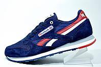 Мужские кроссовки Reebok Classiс Leather, Dark Blue\Red