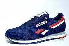 Мужские кроссовки Reebok Classiс Leather, Dark Blue\Red, фото 2