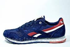 Мужские кроссовки Reebok Classiс Leather, Dark Blue\Red, фото 3