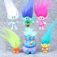 Игрушки Тролли с волосами 6 штук