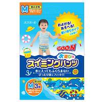 Трусики-подгузники для плавания Goo.N для мальчиков 7-12 кг, ростом 60-80 см (размер M, 3 шт)