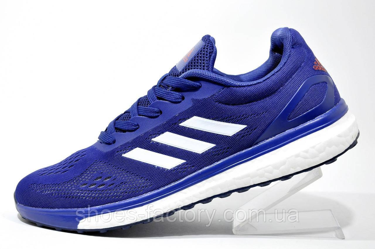 Беговые кроссовки в стиле Adidas Boost, Dark Blue\White