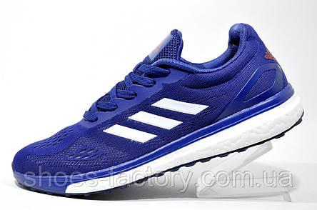 Беговые кроссовки в стиле Adidas Boost, Dark Blue\White, фото 2