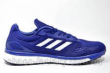 Беговые кроссовки в стиле Adidas Boost, Dark Blue\White, фото 3
