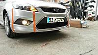 Ford Focus 2008-2011 HB Накладка на передний бампер (под покраску)
