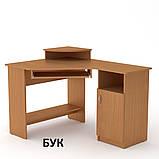 Угловой компьютерный стол СУ-1 для дома и офиса, стандартный, фото 6