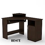 Угловой компьютерный стол СУ-1 для дома и офиса, стандартный, фото 8