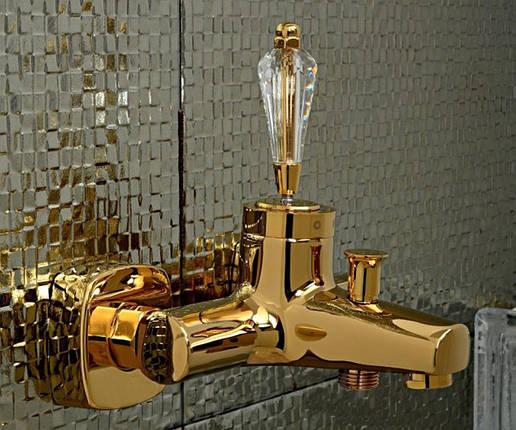 Смеситель для ванной VENEZIA Diamonod Gold 5010201, фото 2