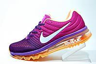 Женские кроссовки Nike Flyknit Air Max 2017, Фиолетовый\Розовый\Оранжевый