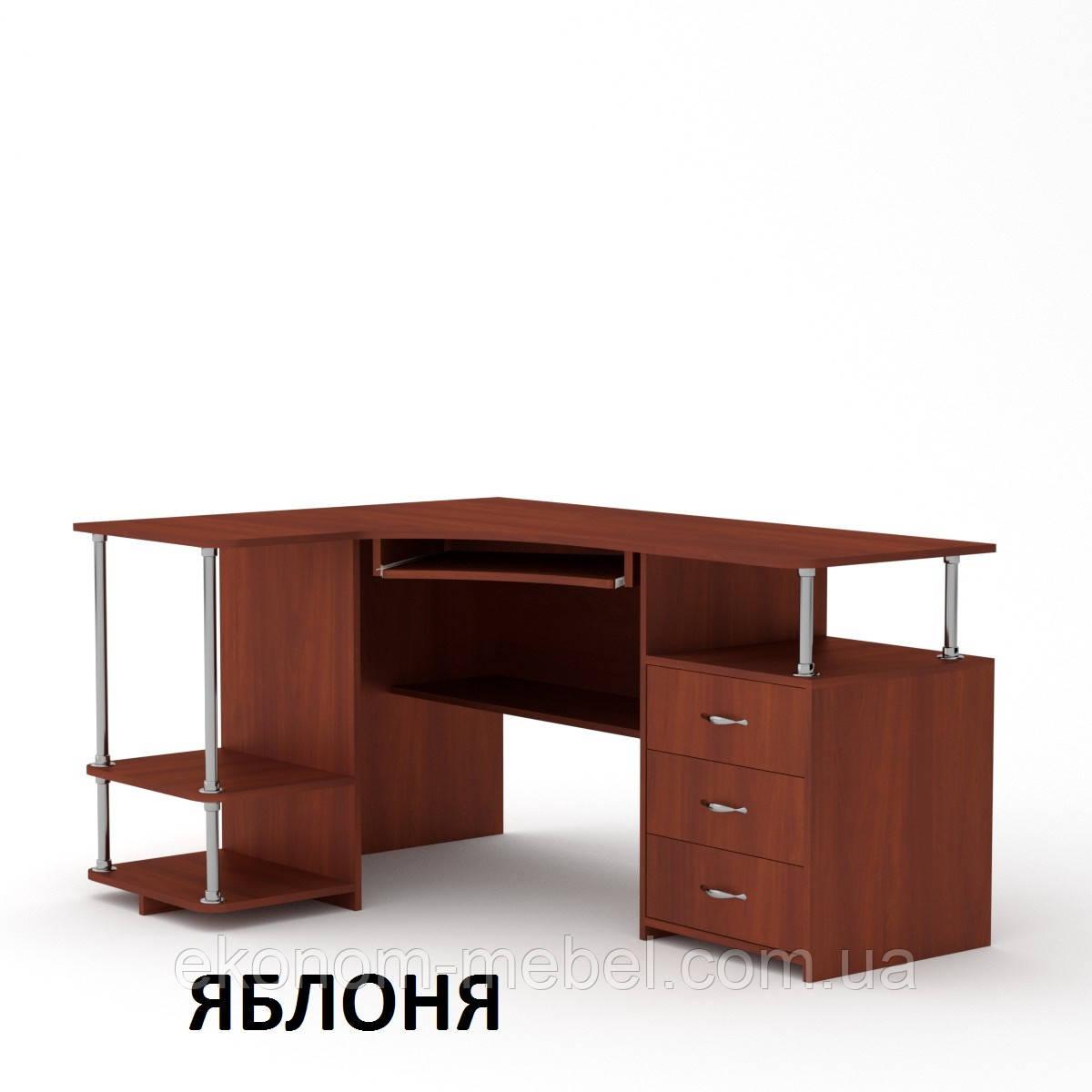 угловой компьютерный стол су 4 в кабинет с тумбой письменный