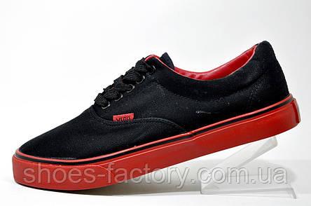 Мужские мокасины, кеды (Black\Red), фото 2