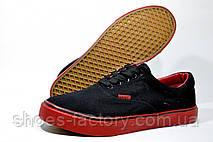 Мужские мокасины, кеды (Black\Red), фото 3