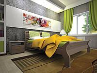 Двуспальная кровать  из дерева Ретро-2