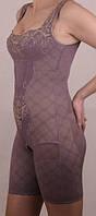 16806    Комбинезон корректирующий с бюстом, украшенный вышивкой