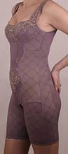 Комбинезон корректирующий с бюстом, украшенный вышивкой 16806