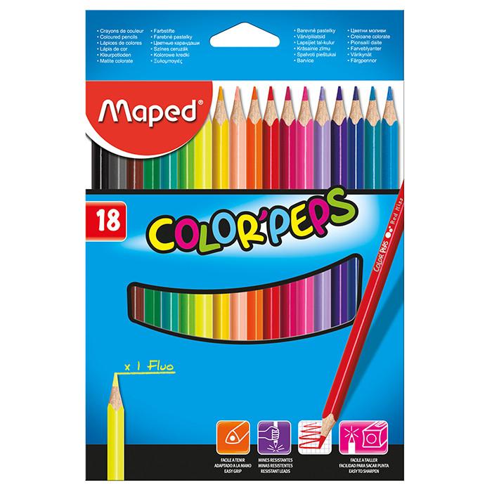 Карандаши цветные Maped COLOR PEPS Classic 18цв (MP.183218)