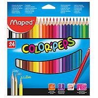 Карандаши цветные, 24 цветов (Maped, COLOR PEPS Classic, MP.183224)