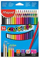 Карандаши цветные, 36 цветов (Maped, COLOR PEPS Classic, MP.832017)