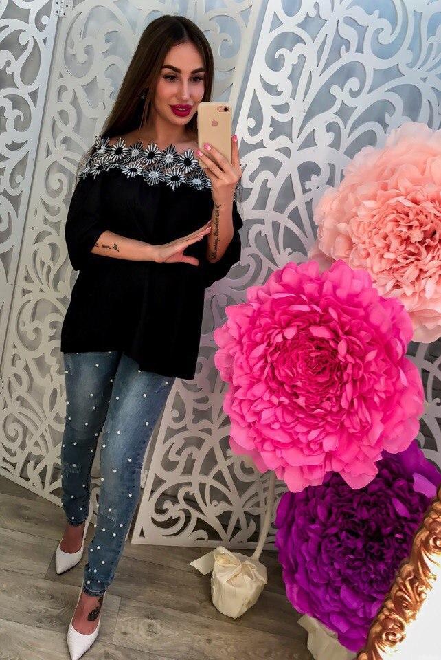 Стильная блузка-туника женская