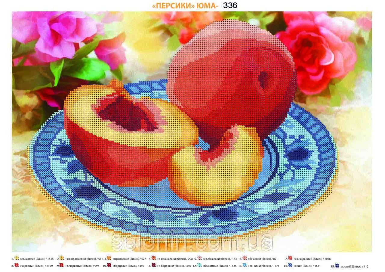 схема вышивка персики
