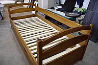 Кровать детская подростковая раздвижная Елена, массив дуб, ясень, ольха