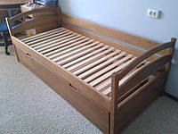Кровать детская подростковая Елена раздвижная с подьемным механизмом, массив дуб, ясень, ольха