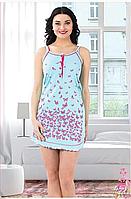 Ночная рубашка  женская на  брительках большого размера