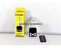 Трансмитер FM MOD. CM-S4, FM-модулятор с зарядкой  для телефона от прикуривателя и от сети