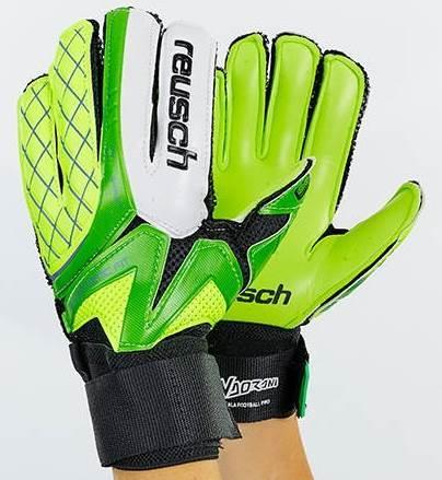 Рукавички воротарські FB-853-1 REUSCH (PVC, р-р 8-10, салатовий-зелений-чорний) розмір 9